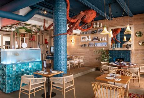 Interior del nuevo restaurante que lidera Romain Fornell, Tejada Mar.
