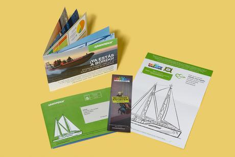 Vista completa del Wellcome pack para Greenpeace