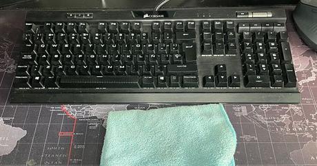 Trapo de microfibras para limpiar tu teclado