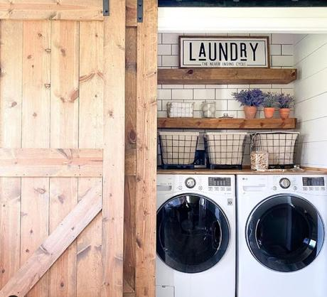 Laundry en Estilo Rustico