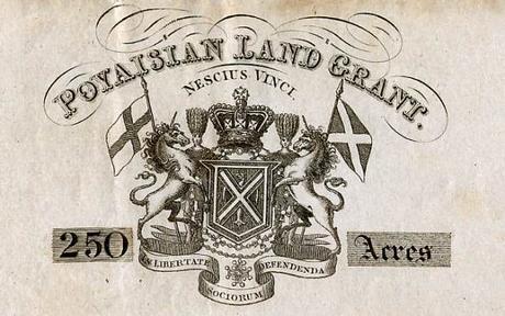 Certificado tierras de Poyais,MacGregor,estafa,país imaginario,City Londres,colonización América