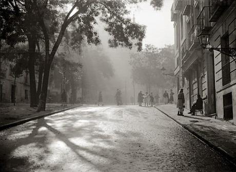 Fotos antiguas de Madrid: Plaza de la Paja, en La Latina