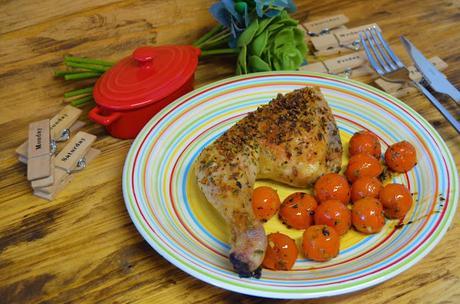 Las delicias de Mayte, recetas saludables, pollo asado al horno, recetas de pollo asado, recetas, pollo asado receta, receta, pollo asado con tomates cherrys, recetas de cocina,