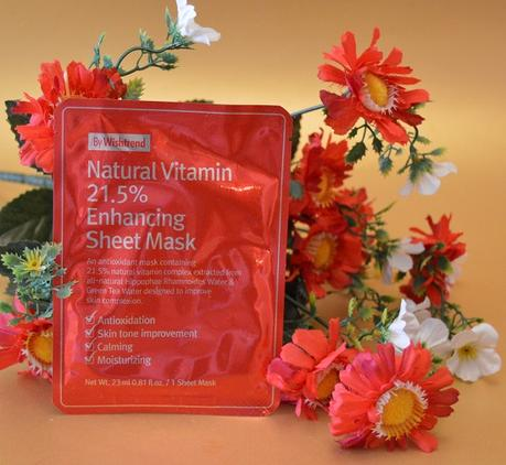 "La mascarilla antioxidante e hidratante ""Natural Vitamin 21.5% Enhancing Sheet Mask"" de BY WISHTREND (From Asia with Love)"