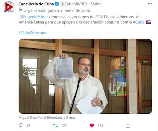 Cuba emplaza a EEUU por presión sobre naciones latinoamericanas