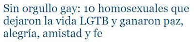 HOMOSEXUALIDAD.  Testimonios de experiencias