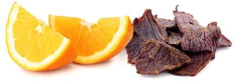 Naranjas y cecina