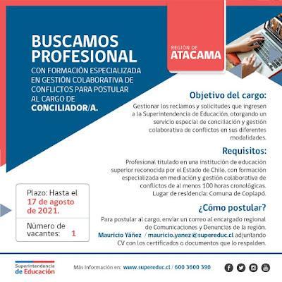 Oportunidades de empleos para Orientadores. Semana del 19 al 25 de Julio de 2021.