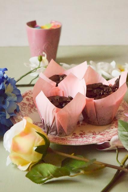 Muffins Veganos de Doble Chocolate