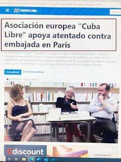 Grupo reconoce autoría de atentado contra embajada de Cuba en París