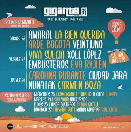 Festival Gigante 2021 en Alcalá de Henares: de pie, sin distancia, con mascarilla