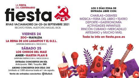 Fiesta del PCE 2021 en Rivas Vaciamadrid