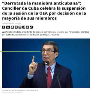Derrotada la maniobra anticubana con la OEA