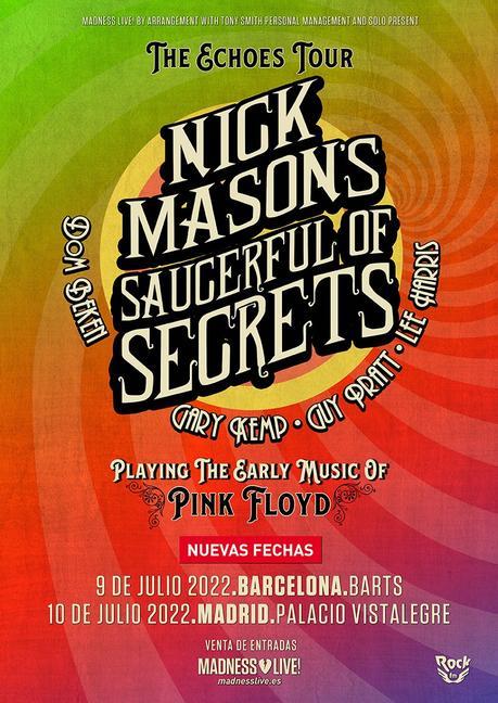 Conciertos de Nick Mason en Barcelona y Madrid en 2022
