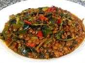 Lentejas verdolaga verduras