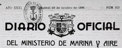 ARMADA DE LA REPÚBLICA ESPAÑOLA, RELACIONES DEL PERSONAL EXPULSADO DE LA MISMA EN OCTUBRE DE 1936 (I)