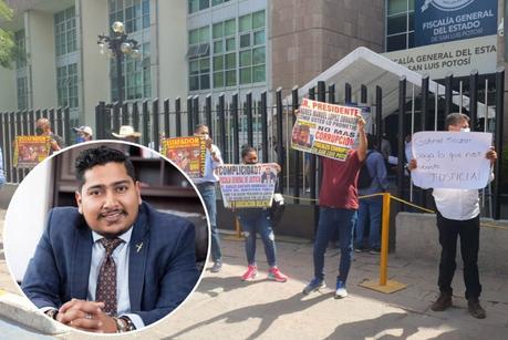 En manifestación acusan a FGE de encubrir a Gabriel Salazar