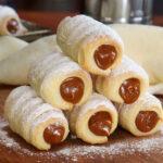 cañoncitos de dulce de leche hojaldre facil