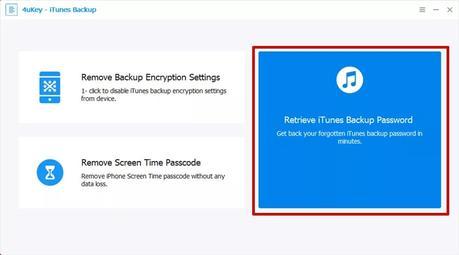 Tenorshare 4ukey opción 1 copia seguridad