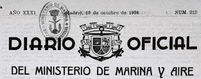 ARMADA DE LA REPÚBLICA ESPAÑOLA, RELACIONES DEL PERSONAL EXPULSADO DE LA MISMA EN OCTUBRE DE 1936 (y II)