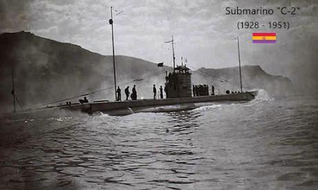 """SUBMARINO """"C-2"""", TRIPULACIÓN EN MARZO DE 1938 (BREST-FRANCIA)"""