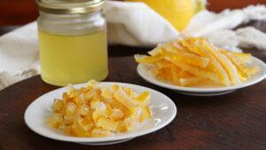 cascaritas de limon confitadas