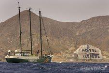 Greenpeace denuncia el lamentable servicio de habitaciones del hotel El Algarrobico.