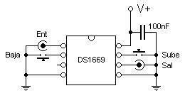 circuito del controlador digital de volumen