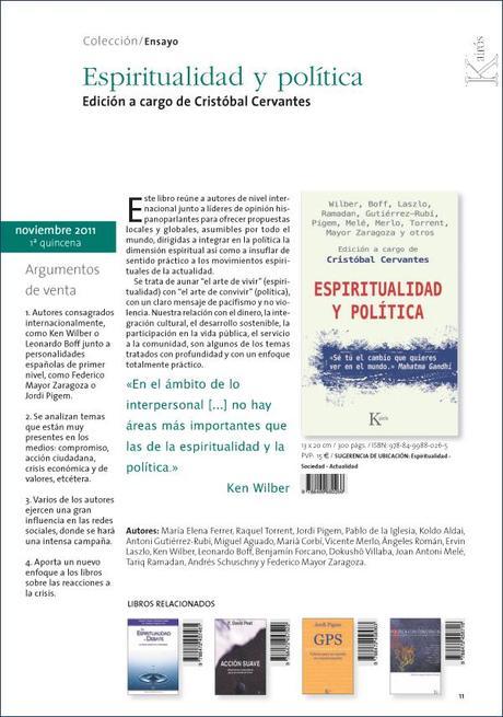 Libro Espiritualidad y Política