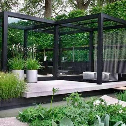 Decoraci n en blanco y negro para el jard n paperblog - Decoracion para el jardin ...