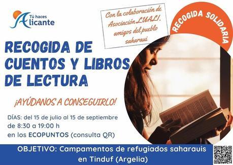 Los ecopuntos de la ciudad de Alicante recogen libros de lectura para los campamentos saharauis de Tinduf