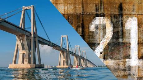Zulia: Hombre se lanza de la pila 21 del Puente sobre el Lago