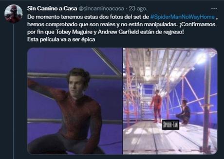SUPUESTA FILTRACIÓN DE IMÁGENES (CON ANDREW GARFIELD Y TOBEY MAGUIRE)