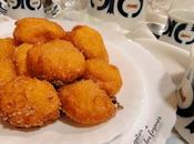 Buñuelos naranja plátano yogur griego