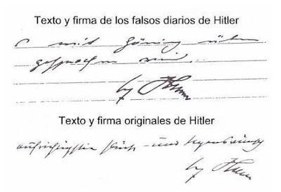 Los falsos diarios de Hitler y Mussolini