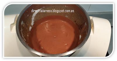 Bizcocho de avellanas y chocolate