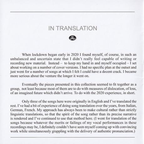 Peter Hammill - In Translation (2021)