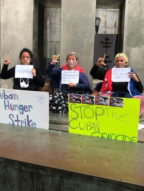 Mujeres cubanas se declararon en huelga de hambre ante la ONU para exigir que se atienda la crisis que atraviesa la isla