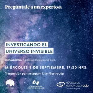 """Charla en línea """"Investigando el universo invisible"""""""