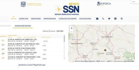 Este domingo se registra sismo de 4.1 en los límites Guanajuato-SLP