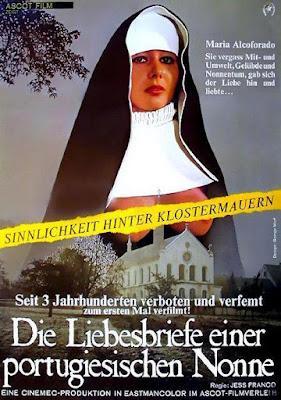 CARTAS DE AMOR DE UNA MONJA PORTUGUESA (Die Liebesbriefe einer portugiesischen Nonne) (Alemania del Oeste, Suiza; 1977) Erótica, Religiosa