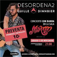 Concierto de Guille Dinnbier en Sala Morocco