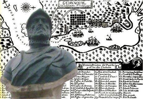 Guayaquil busto escultórico Francisco Orellana