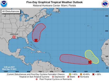 Sigue rumbo al Caribe la baja presión se convertiría en ciclón esta semana.