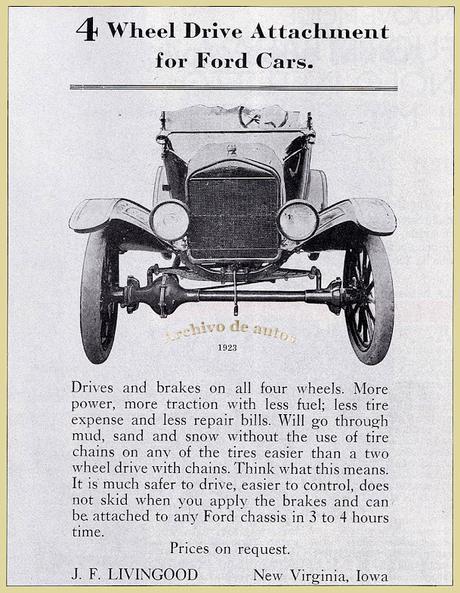 Ford T con doble tracción, un accesorio del año 1923