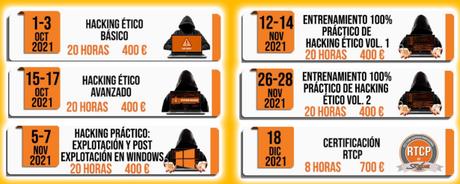 Hacking ético en Securízame 2021: Formato híbrido y una nueva formación sobre hacking en redes Windows.