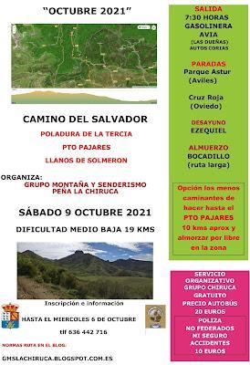 OCTUBRE 2021 Ruta 3ª Etapa Camino del Salvador