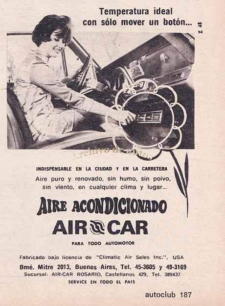 Aire acondicionado Air Car del año 1970