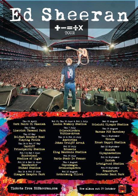 Ed Sheeran: gira de conciertos por Europa en 2022