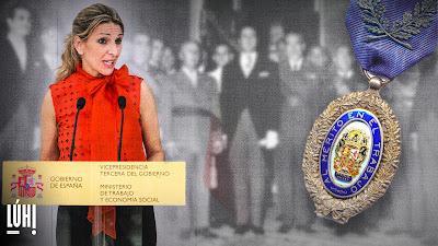Yolanda Díaz retirará la Medalla al Mérito en el Trabajo a Franco y a destacados franquistas.